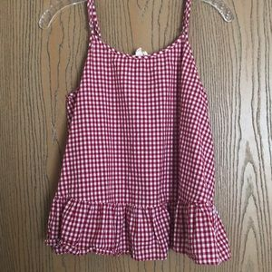 Red Checkered Tank